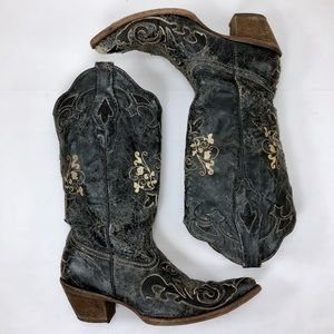 Corral Distressed Lizard Inlay Womens Cowboy Boots